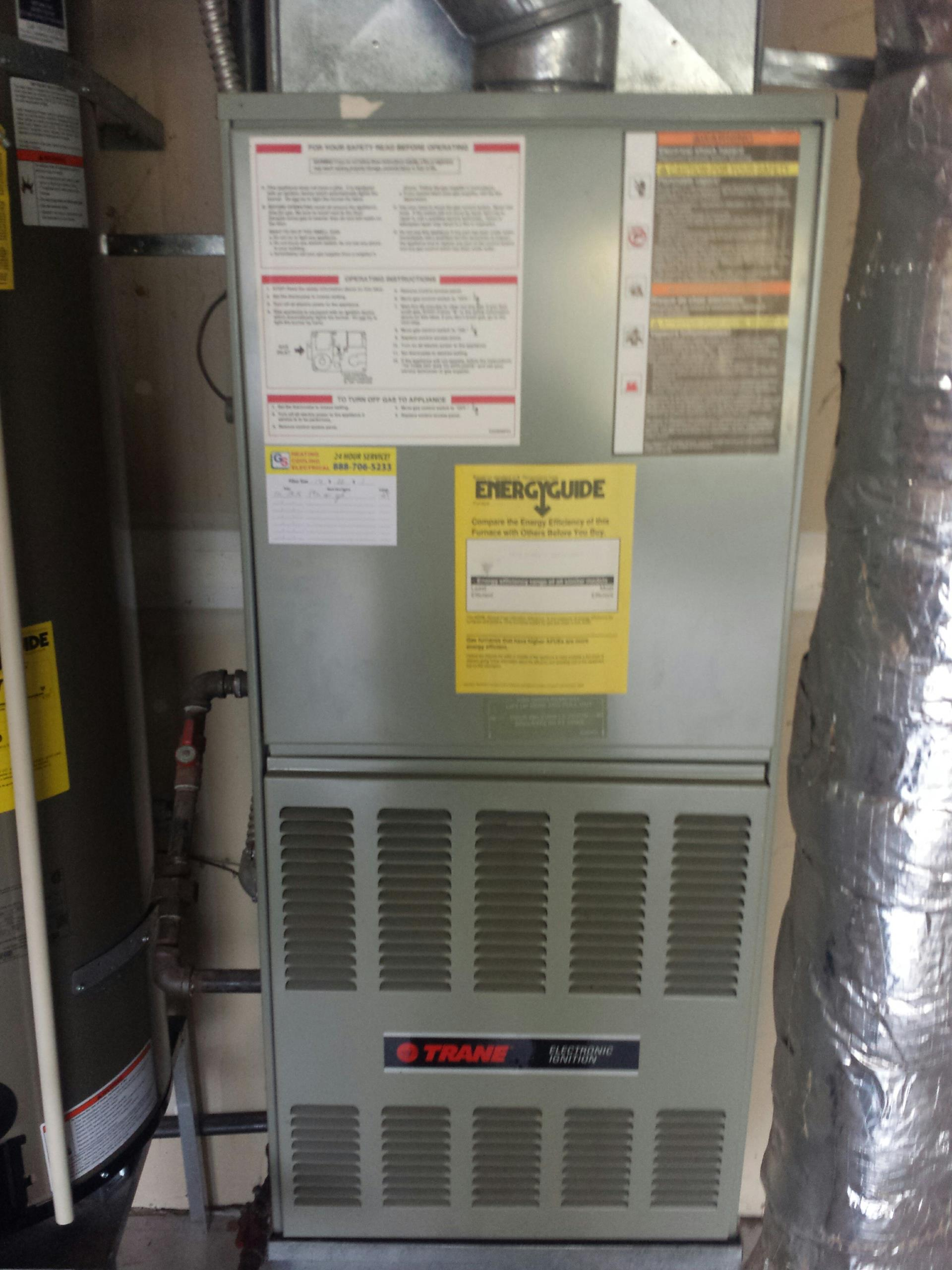 Monroe, WA - Completed maintenance on a residential Trane gas furnace in Monroe.