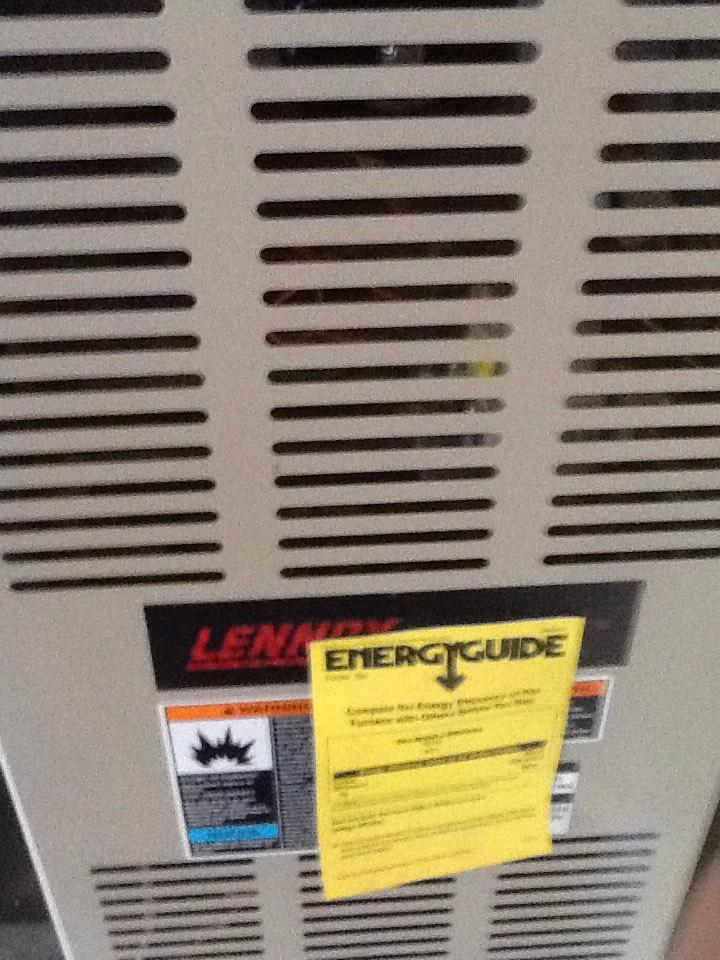 Monroe, WA - Maintenance on a Lennox gas furnace in Monroe