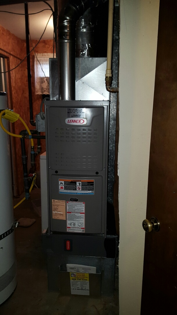 Lake Stevens, WA - Installed New Lennox 80% furnace for customers in Snohomish today happy to have central heat again