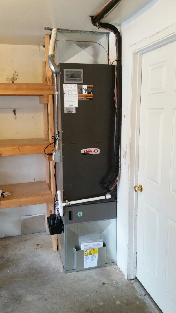 Lynnwood, WA - Install. Replace an electric air handler and installed a new return up stairs and heat pump