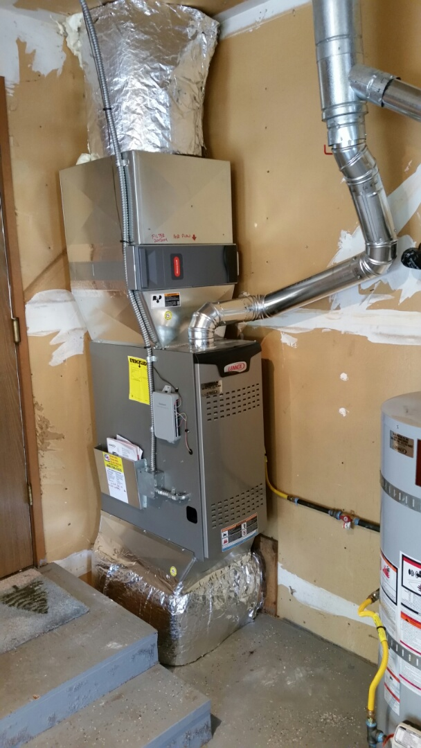 Edmonds, WA - Install. Replaced hot water tank and converted electric air handler to gas furnace