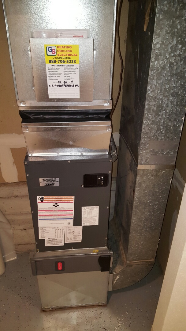 Lake Stevens, WA - Installed a new 10 KW electric furnace for a customer in Edmonds today happy to have heat again