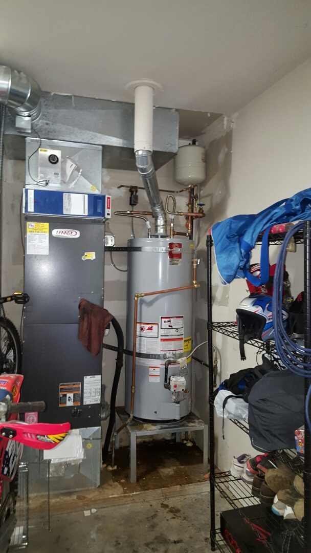 Lake Stevens, WA - Installed a new 50 gallon propane hot water tank for customers in Snohomish this afternoon happy to have hot water again