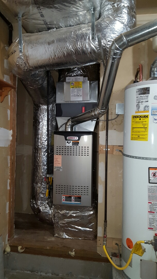 Lake Stevens, WA - Installed a New Lennox 80% furnace today for a customer in Edmonds customer happy to have new furnace installed.