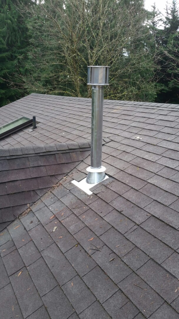 Snohomish, WA - Install. Replaced venting through roof.