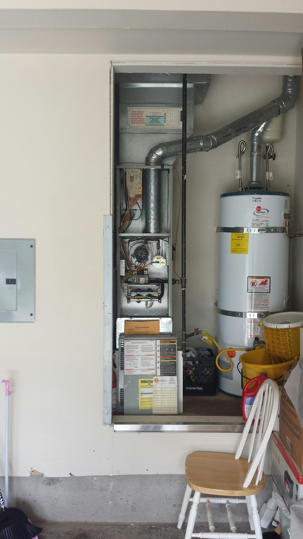 Repairing Trane furnace in Mukilteo.