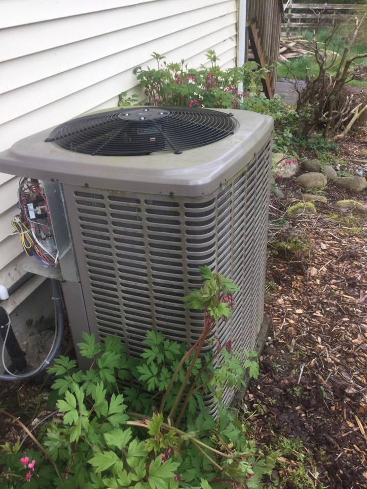 Snohomish, WA - Performing a planned maintenance on a York heat pump in Snohomish, WA