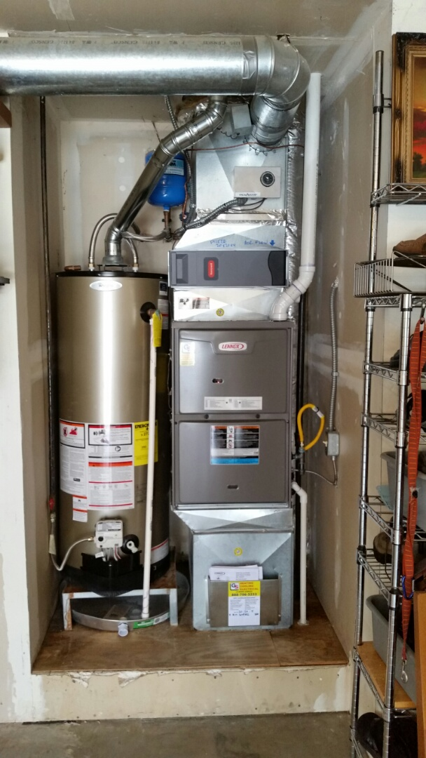 Mukilteo, WA - Install. Replaced standard gas furnace with a high efficiency gas furnace