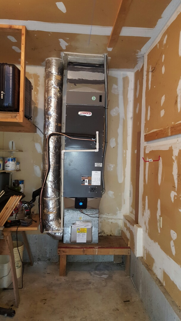 Finished installing a Lennox high efficiency heat pump for customers in Sultan today happy to have a better more efficient heating and cooling system