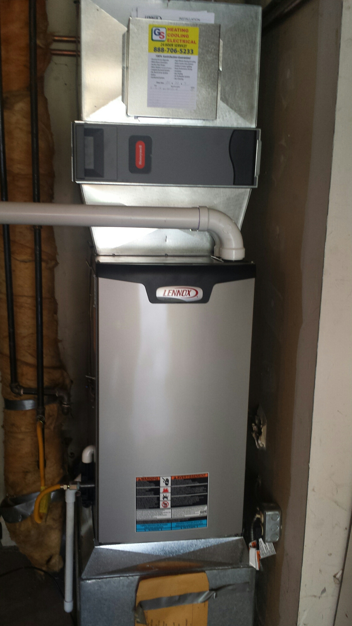 Everett, WA - Completed planned maintenance on a Lennox gas furnace in Everrett.