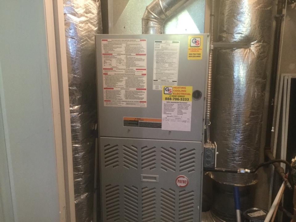 Monroe, WA - Trane gas furnace sales inspection Monroe