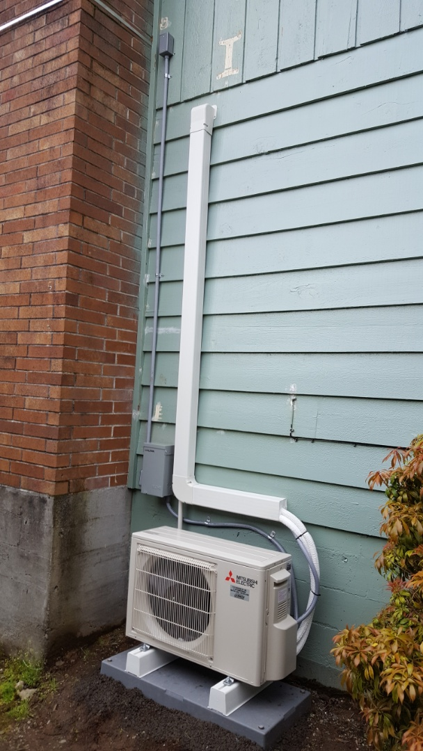 Lake Stevens, WA - Install the new Mitsubishi mini split system for customers in Lake Stevens today happy to have more efficient Heating and Cooling in their home
