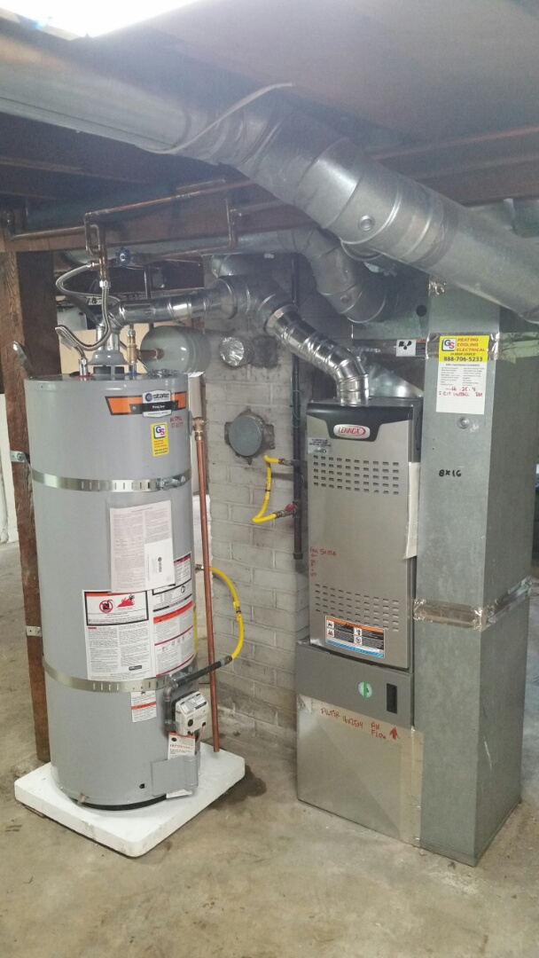 Everett, WA - Install. Replaced gas furnace and hot water tank