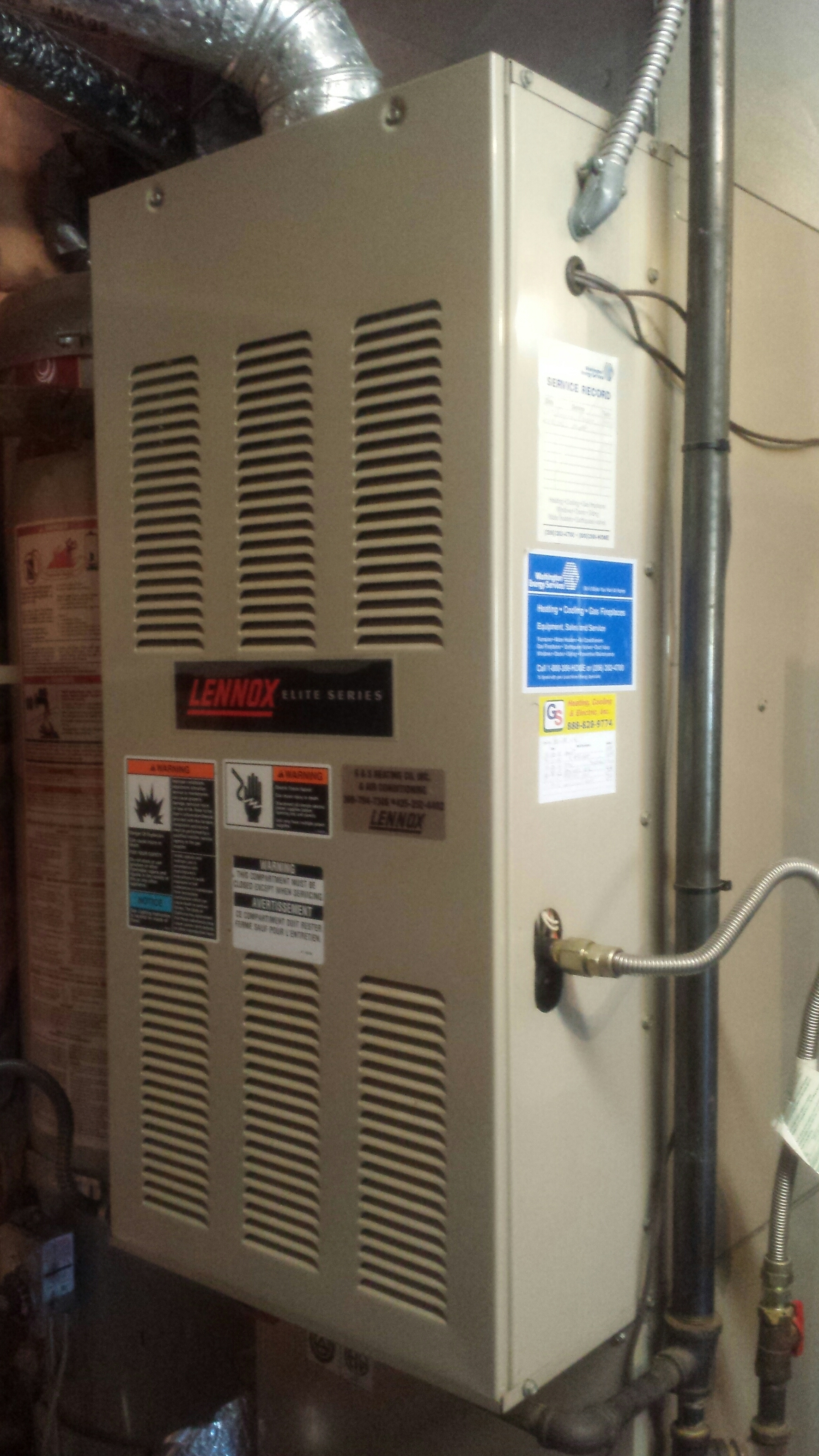 Snohomish, WA - Completed maintenance on Lennox furnace for home sale