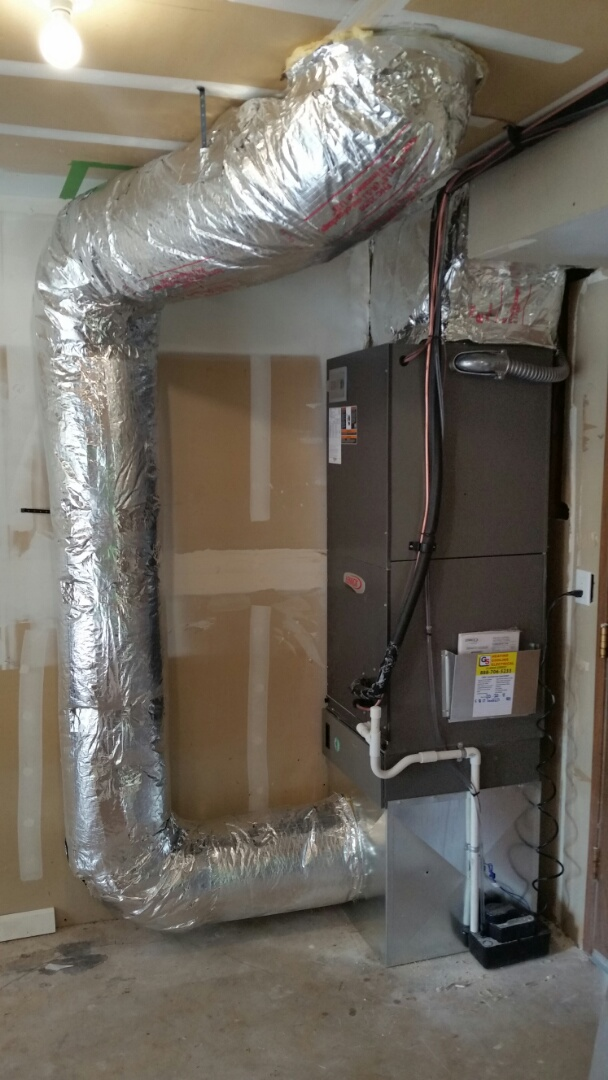 Edmonds, WA - Install.  Changed out electric air handler and added a heat pump and new return air duct.