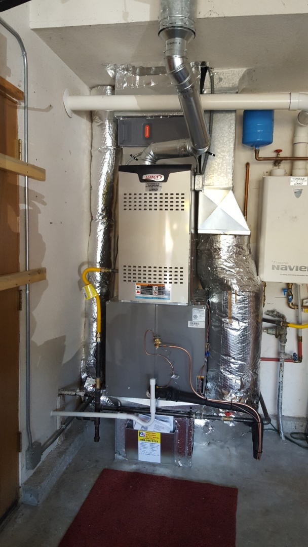 Lake Stevens, WA - Just finished 2 day job installing Hybrid Lenox heat pump system customer happy to have more efficient Heating and Cooling system installed