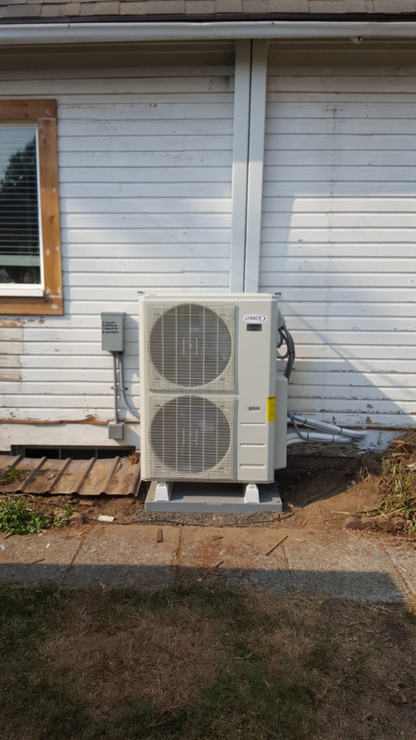 Lake Stevens, WA - Finished installing Lennox multi-head mini split ductless system for customers in Monroe today happy to have more efficient heating and cooling system for their home