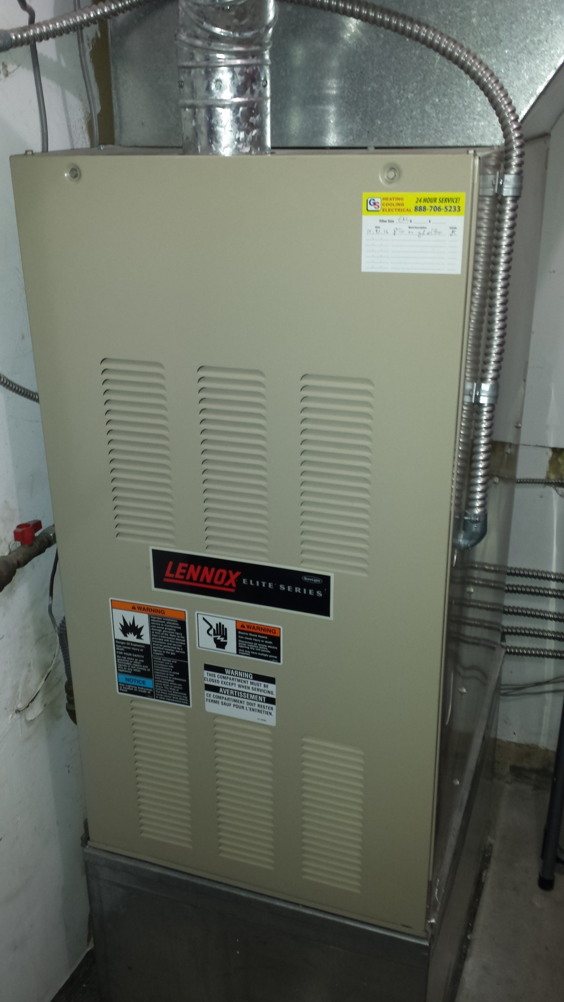Completed service on a Lennox gas furnace in Sultan.