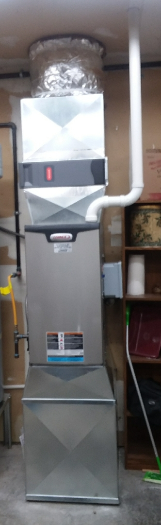Mukilteo, WA - High efficiency gas furnace, water heater, and new gas line from new meter.
