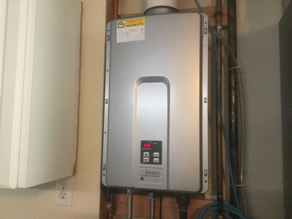 Bellevue, WA - Performed routine maintenance on a Rennai tankless hot water heater in Bellevue WA