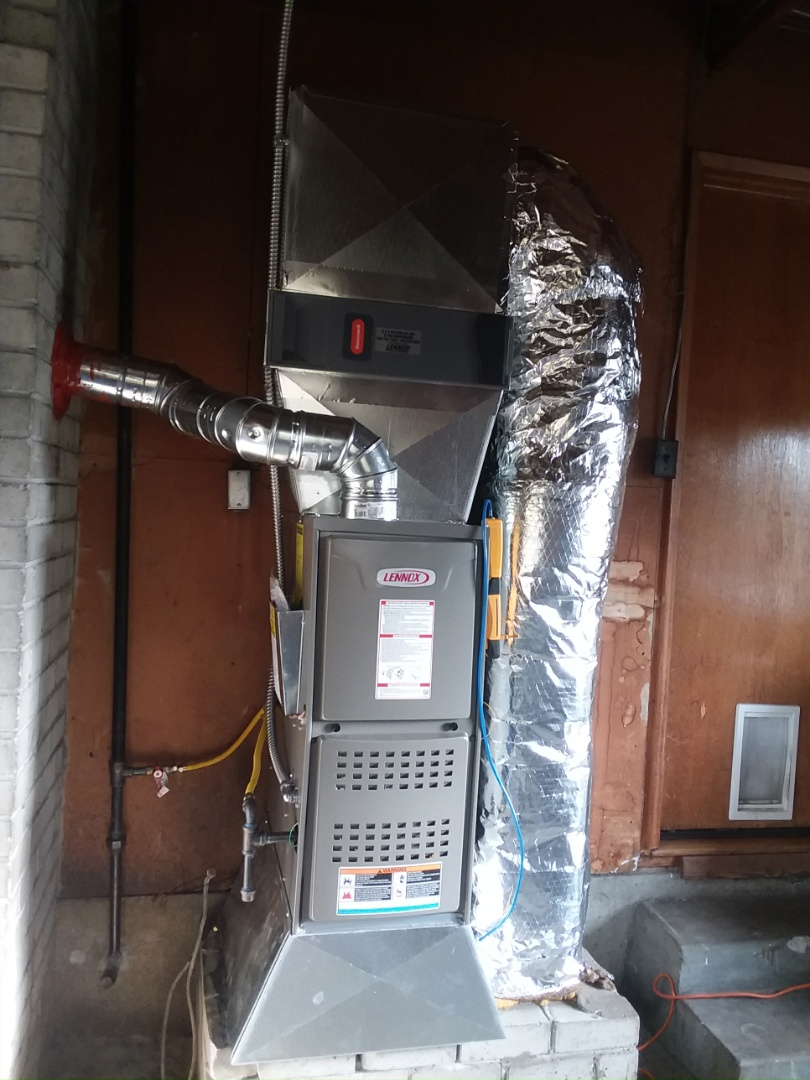 Lynnwood, WA - New gas furnace and gas pipe install  Linwood
