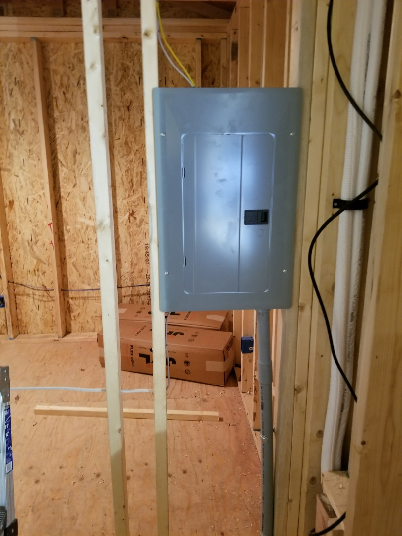 Bellevue, WA - Electrician. Electrical wiring of upstairs addition with a sub panel.  Also wired up a 15amp Mitsubishi ductless heat pump