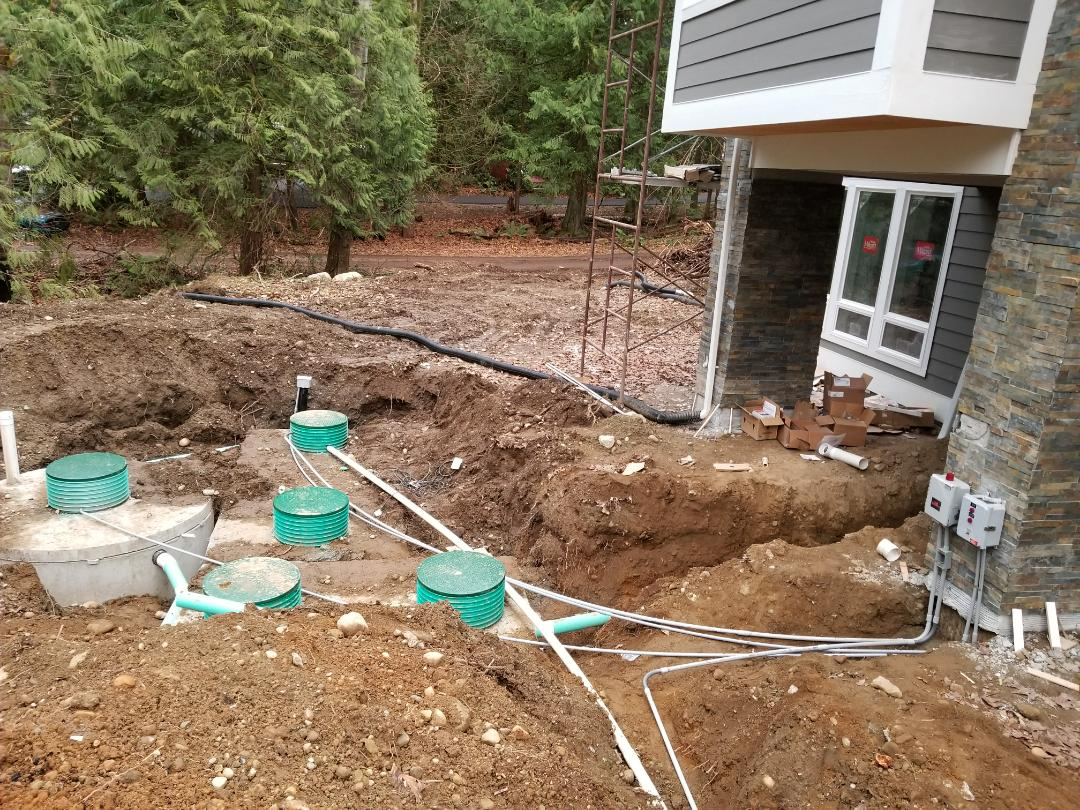 Carnation, WA - Electrician. Electrical installed septic system