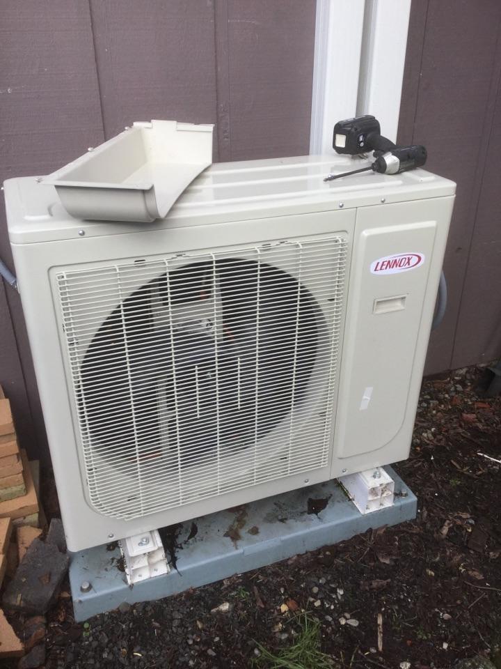 Edmonds, WA - Diagnosed a Mitsubishi ductless heat pump in Edmunds WA