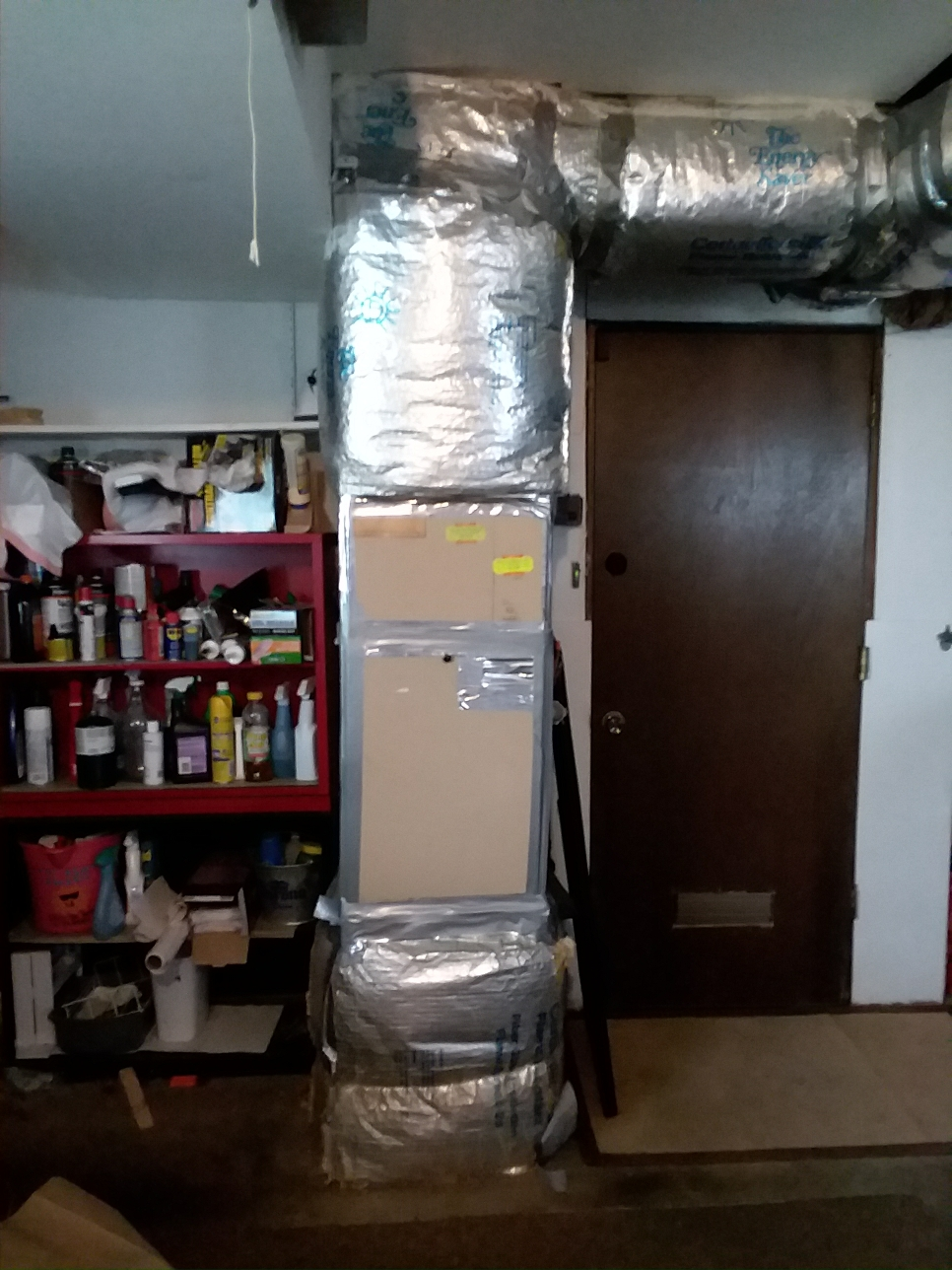 Edmonds, WA - Estimate on a new heat pump electric air handler in a garage