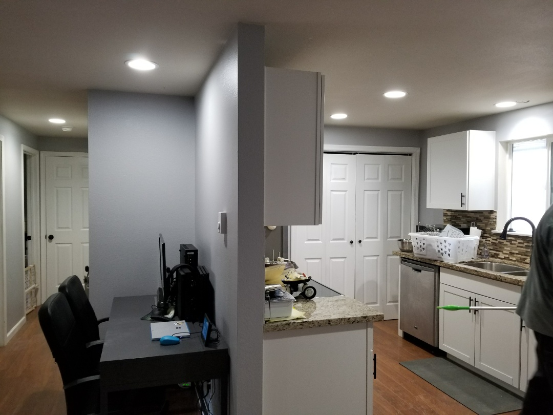 Everett, WA - Electrical install of 8 can lights,2 wall heaters