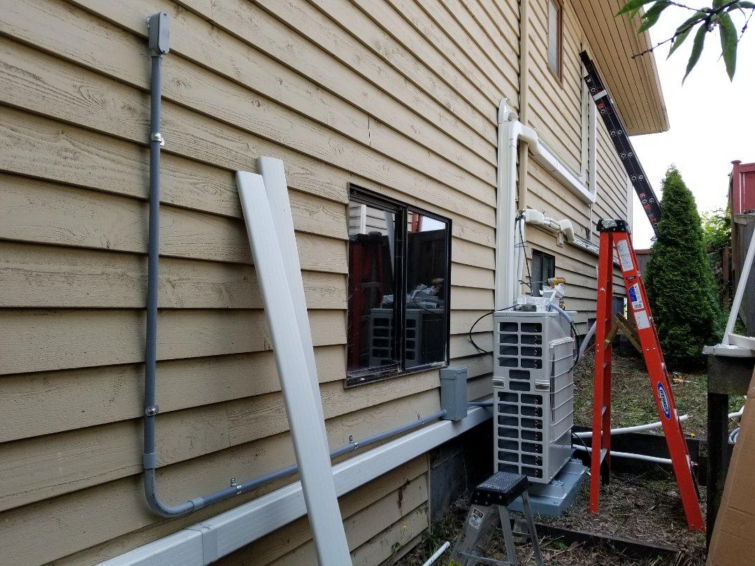 Mukilteo, WA - Electrical install new AC unit