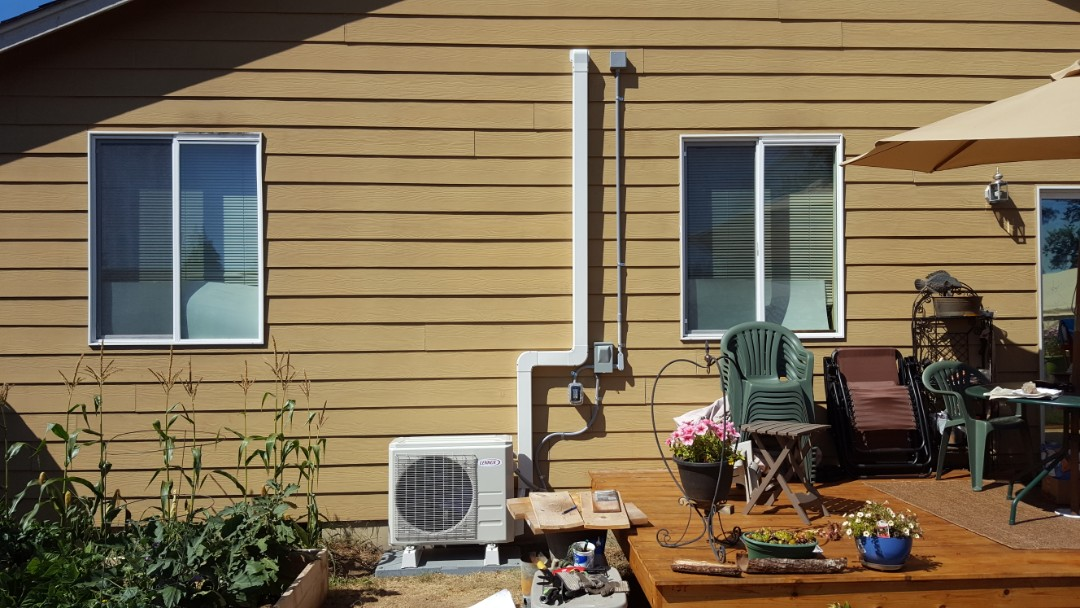Marysville, WA - Just finished installing a Lennox ductless heat pump system for customer in Marysville today happy to have more efficient Heating and Cooling