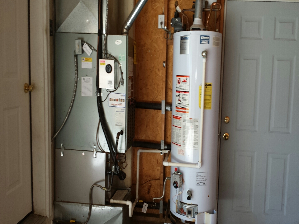 Monroe, WA - inspecting furnace and hot water tank