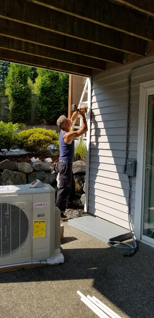 Lynnwood, WA - Electrical install new AC unit