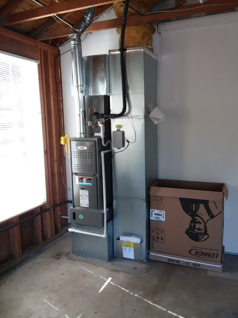 Lynnwood, WA - Lennox air conditioning and gas furnace install