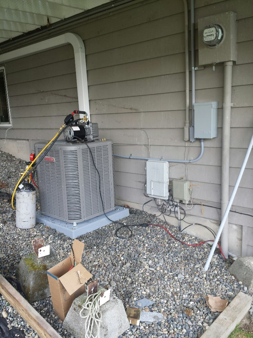 Edmonds, WA - We are installing a dedicated 35 amp electrical circuit for a Lennox Heat Pump.