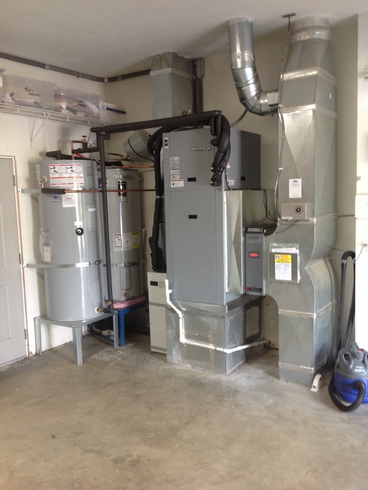 Monroe, WA - Installation of a new WaterFurnace geothermal heat pump to replace a Hydron geothermal heat pump in Monroe.