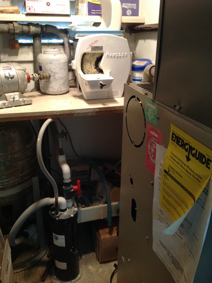Monroe, WA - Lennox commercial gas furnace with air conditioning.