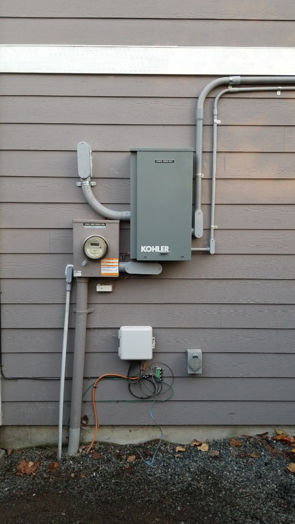 Granite Falls, WA - We are installing an automatic 20kw Kohler Standby Generator with a 4 circuit load shed module.