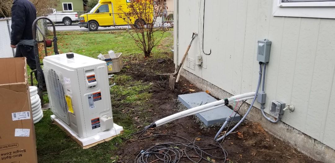 Marysville, WA - Electrical install new heat pump system
