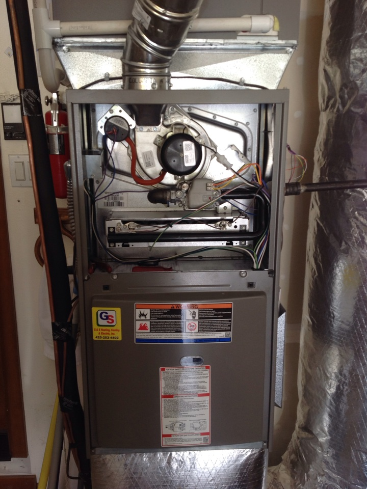 Monroe, WA - Found and repaired gas leak on a Lennox gas furnace.
