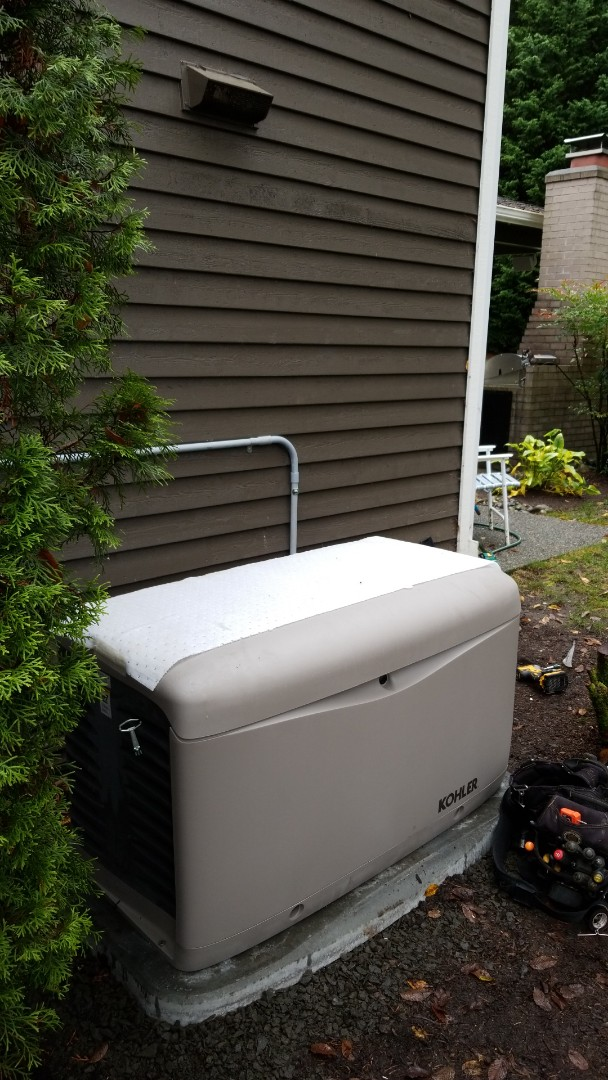 Redmond, WA - We are installing a 20kw Automatic Standby Kohler Generator.