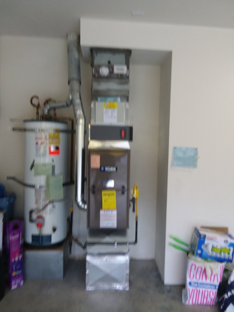 Mill Creek, WA - Just finished installing a York single stage 80% furnace and smoke detector for customer  in Mill Creek today happy to have more efficient Heating