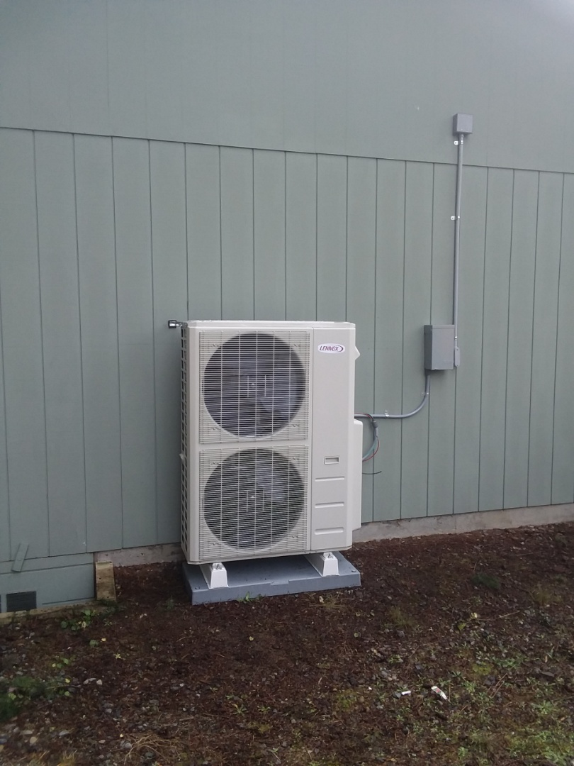 Edmonds, WA - Just finished first day on two-day job in Edmonds installing a Lennox 5 head mini split ductless heat pump system