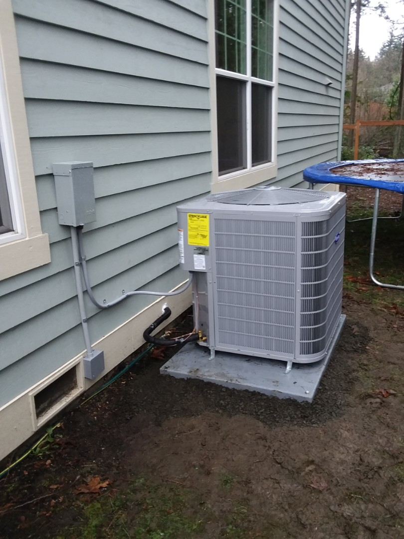 Lynnwood, WA - Just finished installing on a two-day job new carrier gas furnace and AC