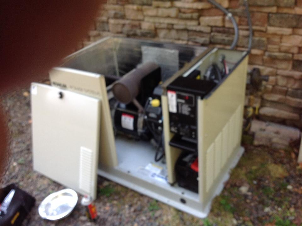 Monroe, WA - Kohler generator tune up and oil change monroe