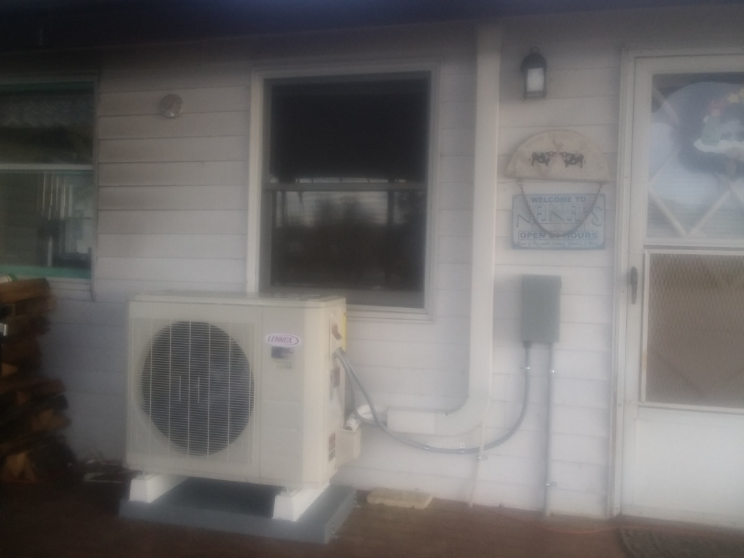 Duvall, WA -  just finished installing a Lennox single head ductless heat pump system for customer in Duvall today