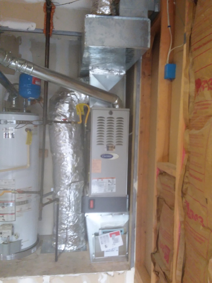Monroe, WA - Just finished installing a carrier 2-stage 80% furnace for customer in Monroe happy to have more efficient Heating