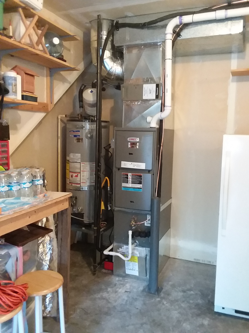 Gold Bar, WA - Just finished first day of two-day job installing 90% Lennox furnace and AC