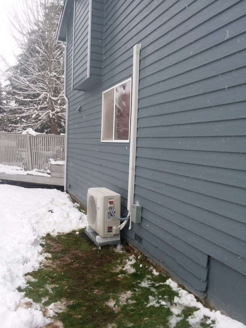 Lake Stevens, WA - Just finished installing a Lennox ductless mini-split heat pump system for customers in Lake Stevens happy to have more efficient heating and cooling for summertime